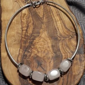 Silpada Sterling & Rose Quartz Choker